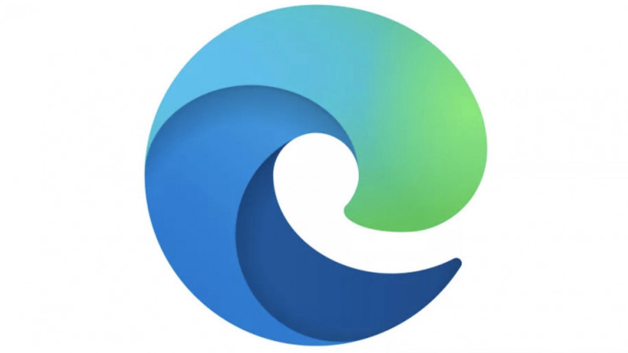 Dette er den nye Edge-logoen. (Ill.: Microsoft )